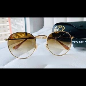 Ray-ban Round metal brown gradient 50mm